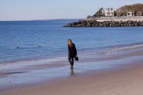Marie sur Manhattan Beach, novembre 2010