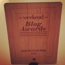 Weekend Blog Award